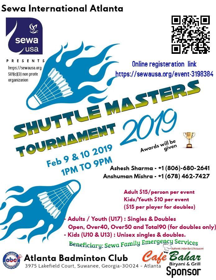 Sewa International - Sewa Atlanta: Badminton Tournament